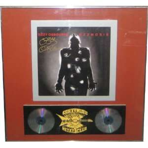 Autographed Ozzy Osbourne Signed Framed Record Album
