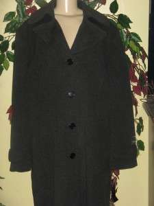 Jones New York womens winter Wool Angora blend long coat jacket size
