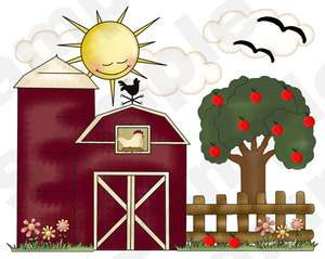 FARM BARNYARD BARN NURSERY WALL MURAL STICKERS DECALS