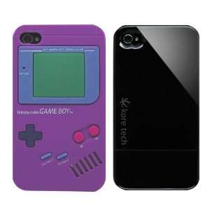 2pcs Set Nintendo Game Boy Silicone Case Purple + KoreTech