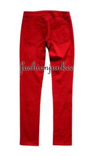 RED NSP106 Skinny Jeans Moleton Soft Colored Denim Stretch Jeggings