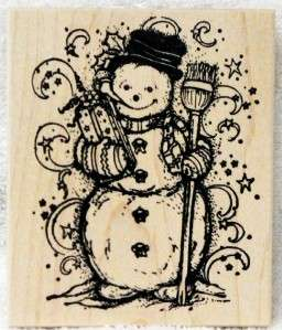 Northwoods rubber stamps Christmas Emilys Snowman