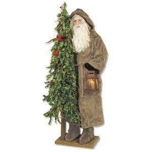 Ditz Father Christmas Santa Old World Lantern birds