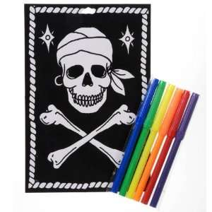 Pirate Skull and Crossbones Velvet Art Activity Kit