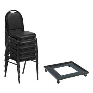 Norwood Commercial Furniture 250 Series Stack Chairs and Dolly Package