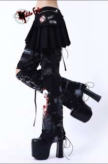 Japan punk unisex goth NF lolita pants trousers skirt
