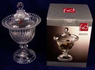 High Quality Crystal Glass Candy Dish Turkey NIB