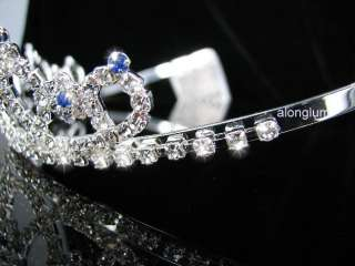 A108 11 Blue Wedding Bridal Bridesmaid Swarovski Crystal Rhinestone