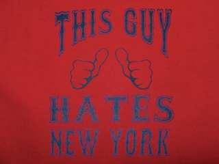 ANTI NEW YORK t shirt boston jersey red sox funny XL