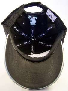 NEW Black Vespa Blue Embroidered Hat Cap Scooter Ovix