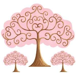 Pink & Brown Grow Tree Wall Sticker by Sherri Blum: Baby