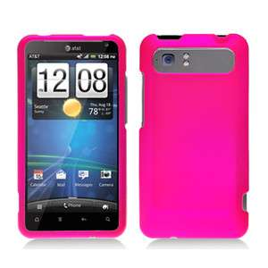 New For HTC Vivid AT&T Cell Phone Rose Pink Texture Snap On Hard Case
