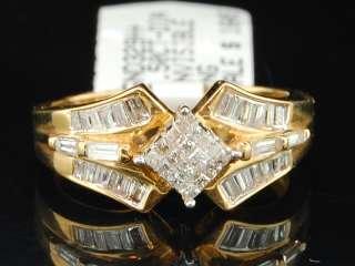YELLOW GOLD PRINCESS CUT DIAMOND ENGAGEMENT RING BRIDAL BAND