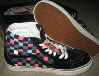 NEW VANS SHOES MULTI CHECK SCUBA 8 M 9.5 W SK8 HI