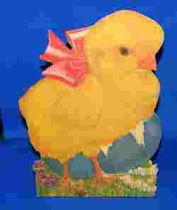FAB 1920 EASTER CHICK LG HVY CARDBOARD DIE CUT W STAND