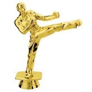Gold 5 Male Karate Trophy Figure Trophy