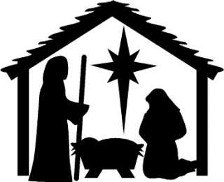 Nativity Christmas Wall Stickers Vinyl Decal Decor Art