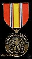 NATIONAL DEFENSE MEDAL PIN MARINES NAVY ARMY AIR FORCE