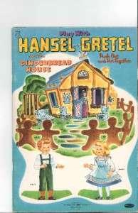 VINTGE HANSEL & GRETEL PAPER DOLLS LZR RPRO ORG SZ