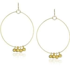 gorjana Carmel Gold Plated 5 Charm Hoop Earrings