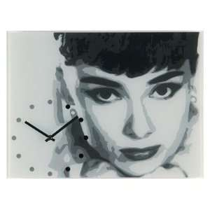 Nextime 8613 Audrey Hepburn II Glass Wall Clock