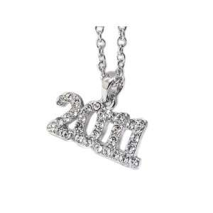 Graduating Year 2011 Gold Plated Crystal Pendant Necklace