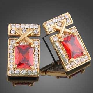 18K yellow gold Gp Swarovski Crystal noblest jewelry set N35