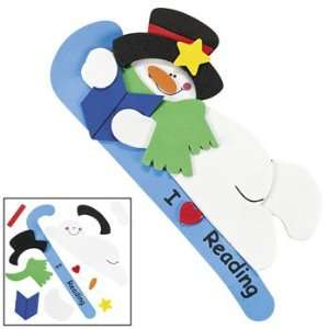 I Love Reading Snowman Bookmark Craft Kit   Craft Kits