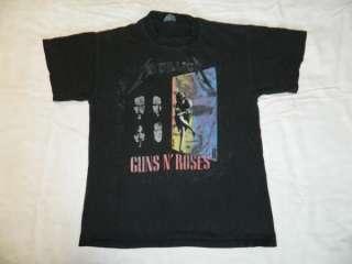 VTG METALLICA n GUNS N ROSES 1992 TOUR T SHIRT CONCERT 90S TEE
