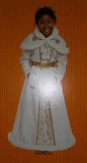 Victorian Cape Hooded Gold White Costume S 4 6 NWT