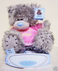 ME TO YOU HOLDING ROSE TATTY TEDDY BEAR PLUSH NEW GIFT