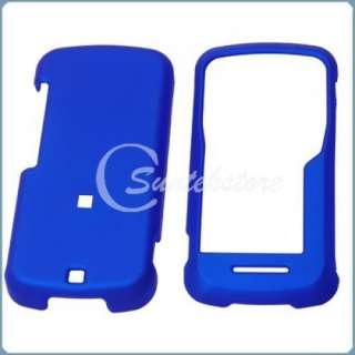 Blue Hard Phone Case Cover for Motorola Clutch i465 NEW