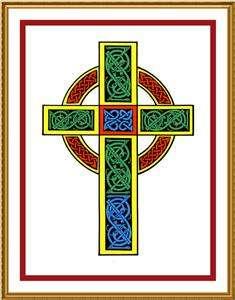 Celtic Knot Cross Irish Art Counted Cross Stitch Chart