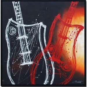 Rock n White Hand Painted Canvas Art Oil Painting