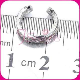 Punk Style Party Jewelry Flower Ear Bone Cuff Earcuff Piercing Earring