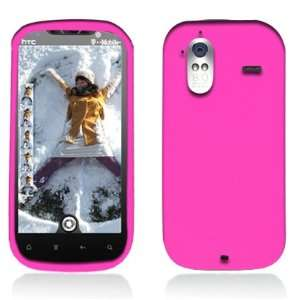 Solid Hot Pink Silicone Skin Gel Cover Case For HTC Amaze