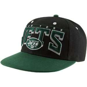 NFL New York Jets Mens Hardknock Snapback Hat   Black