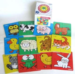 Farm Animals Jigsaw Puzzle Toy Montessori Toys
