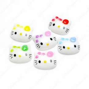 B1864 (40 pcs) Mix Mini Hello Kitty Flower 12MM Face Resin Flatback