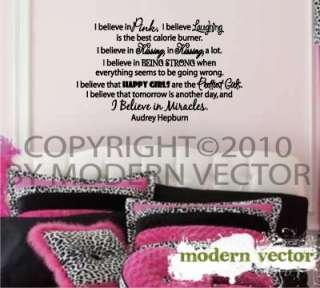 Audrey Hepburn Quote Livingroom Bed Vinyl Wall Decal