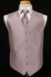 Tuxedo Vest & Tie   Herringbone   Light Pink