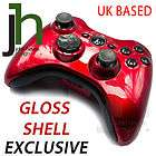 CUSTOM MODDED XBOX 360 RED AND BLACK CONTROLLER SHELL CASE MOD