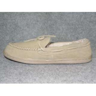 Brown Beige Or Black Moccasin Slippers Size 7 8 9 10 11 12 M