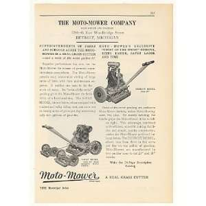 Co 3 Way Detroit Model Lawn Mowers Print Ad (41796): Home & Kitchen