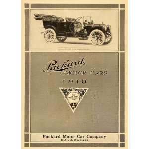 1909 Ad Packard Motor Car Co. 1910 30 Touring Auto