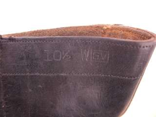 1950s Vintage US Military 10 Leather Jump Boots 10.5 WIDE