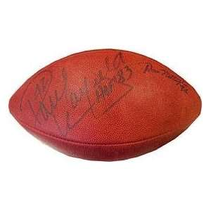 Signed Paul Warfield Football   with HOF 83 Inscription
