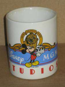 1987 MGM Studios Mickey Mouse Walt Disney Coffee Mug