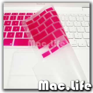 FULL HOT PINK Silicone Keyboard Skin Cover for Old Macbook White 13