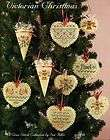 VICTORIAN CHRISTMAS Bell Hearts Ornaments Cross Stitch Pattern